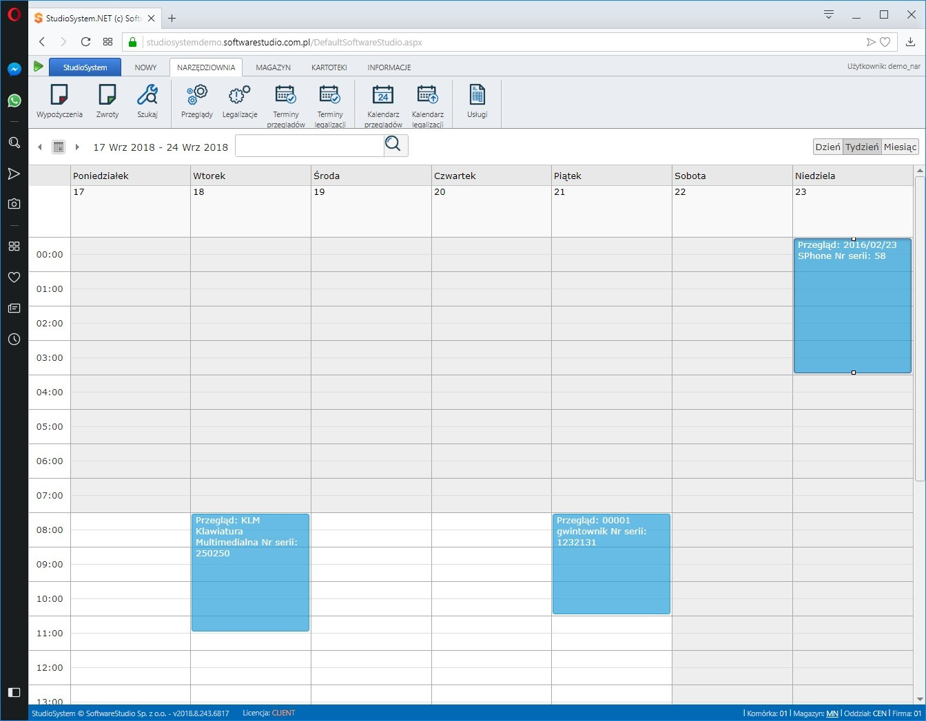narzędzia-przeglądy- System do zarządzania narzędziami