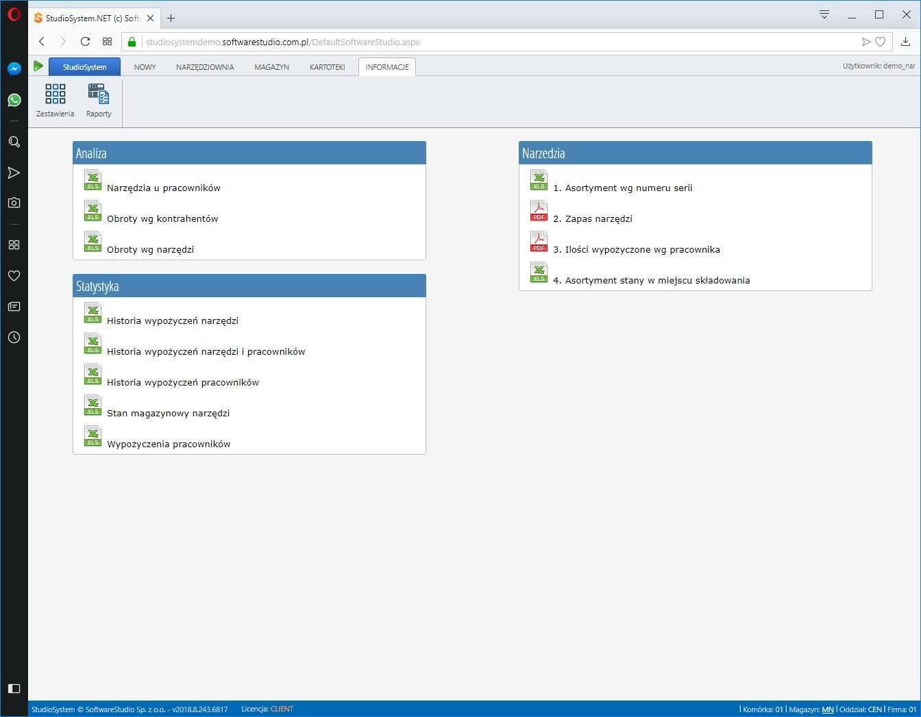 przeglądy-narzędzi Oprogramowanie wypożyczalnia narzędzi