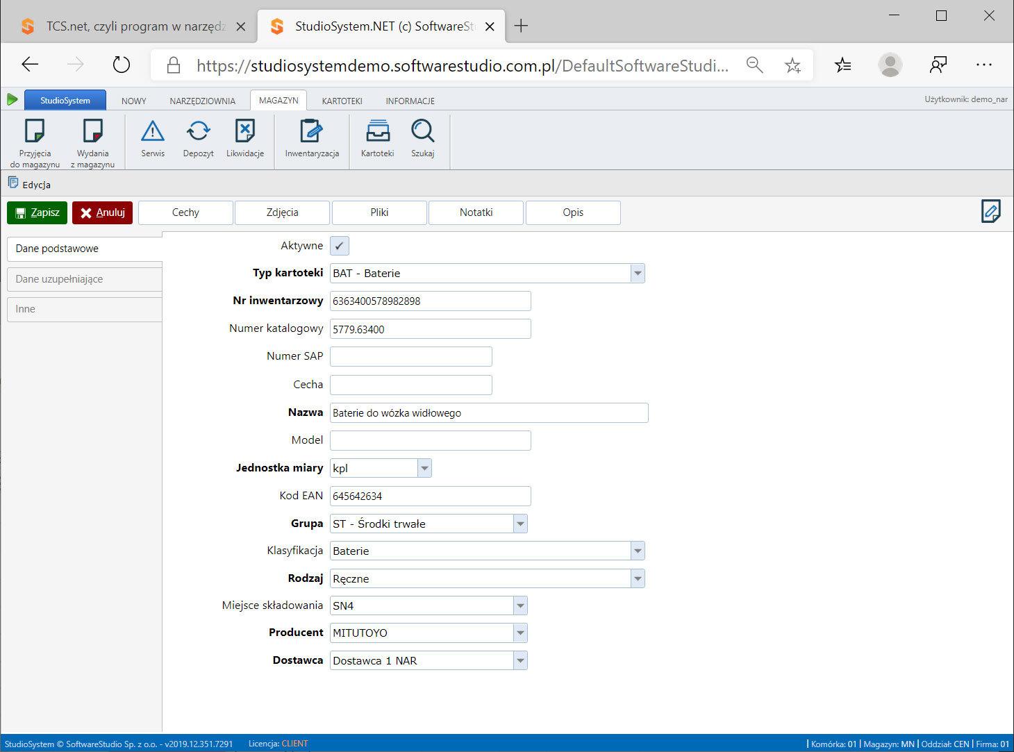 aplikacja-narzędziownia Zarządzanie narzędziami pomiarowymi