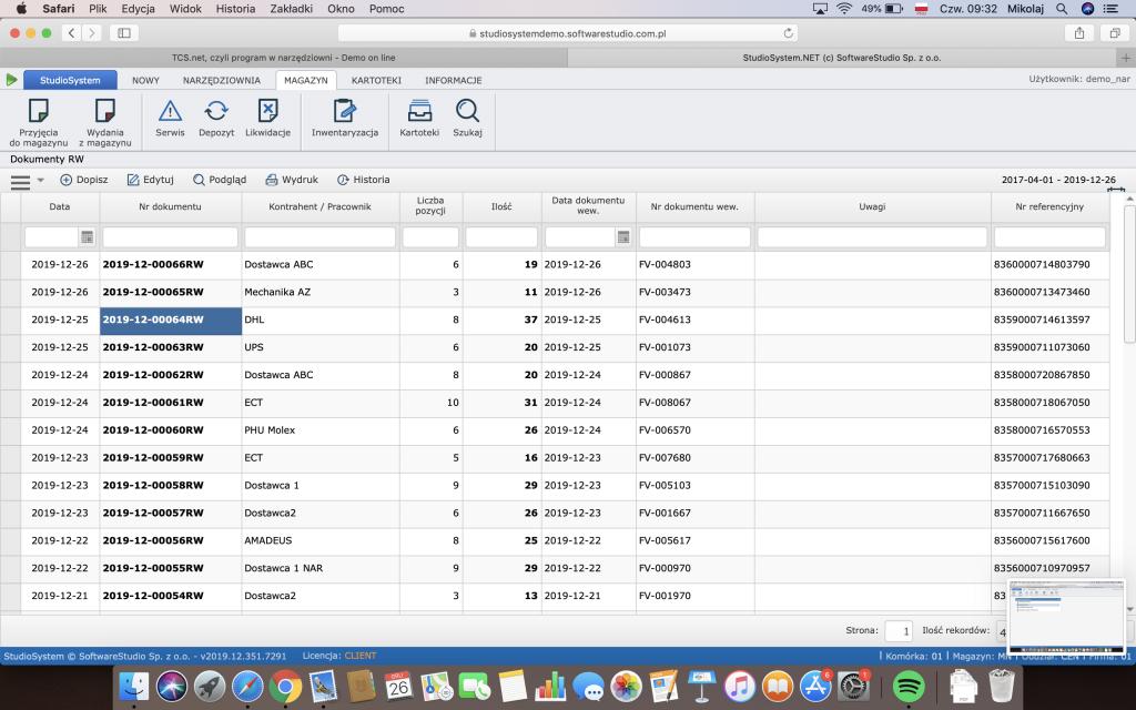 narzędziownia TCS.net oprogramowanie apple iOS
