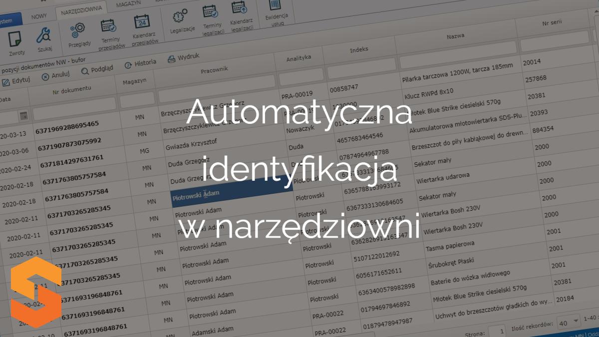 Automatyczna identyfikacja w narzędziowni