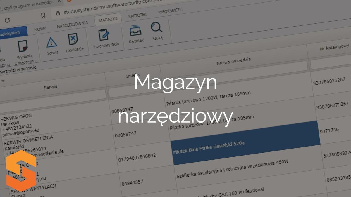 narzędzia kodowanie,magazyn narzędziowy