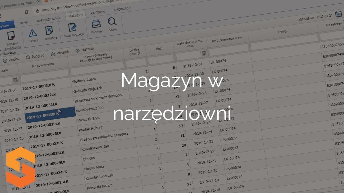 Za pomocą magazyn w narzędziowni możesz uprawniać procesy w narzędziowni.